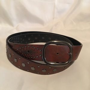 Accessories - Brown Belt with Studs and Lacing